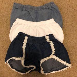 Bundle of 3 shorts
